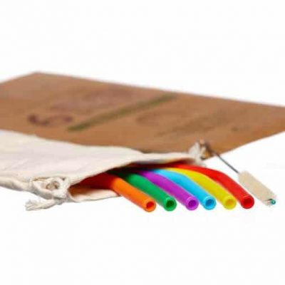 ecoliving silicone straws with bag