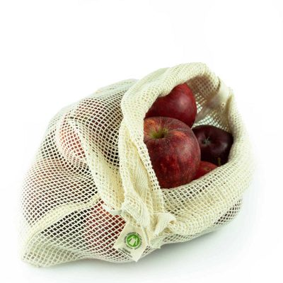 reusable cotton mesh produce bags 3 pack