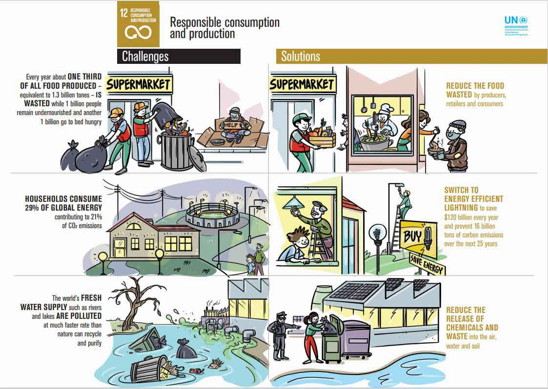 ethical and sustainable consumption Un SDG goal 12